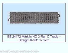 """EE 24172 LN LikeNew Märklin HO 3-Rail C Track Straight 6.76"""" (171.7mm) Length"""