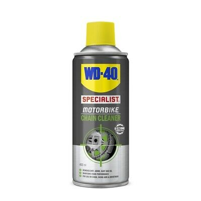 WD-40 44138 Motorbike Chain Cleaner 400ml Dirt Grime Dust Oil Remover Cleaning