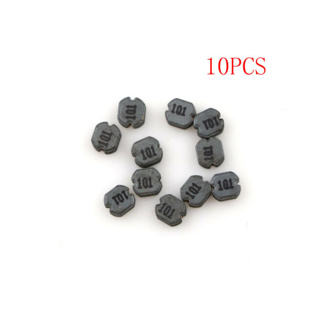 10Pcs CD32 100uH 101 SMD Power Inductors Diameter:3mm High:2mm BR