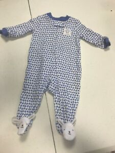 1359d95b0c2b3 Carter's My First Easter Sleeper Infant Blue 3 Month~Just One ...
