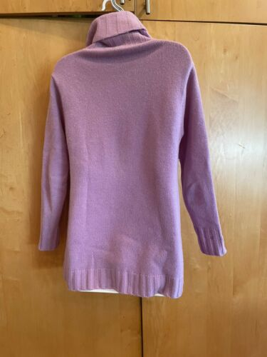 eileen fisher lilac purple 6ply cashmere turtlenec