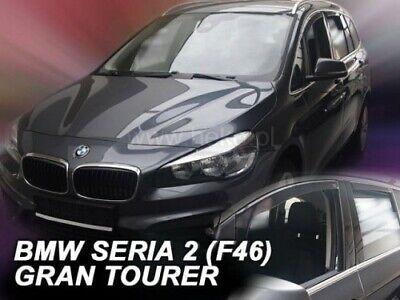OEMM Juego de 4 deflectores de Viento compatibles con BMW Serie 2 F46 Gran Tourer Deflectores de Ventana 2015 2016 2017 2018 2019 2020 Viseras Laterales de Cristal acr/ílico PMMA