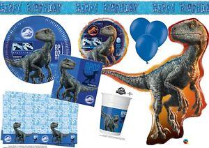 Image Is Loading BLUE Jurassic World Birthday Party Tableware Dinosaur Decorations