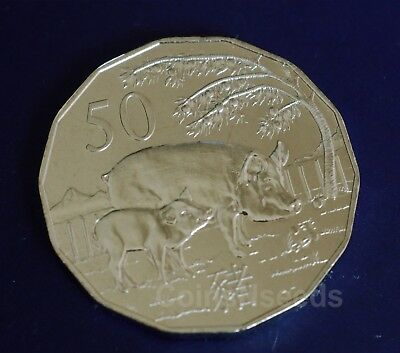 in red folder 2020 50c Lunar Year of the Rat Tetra-decagon Unc Coin