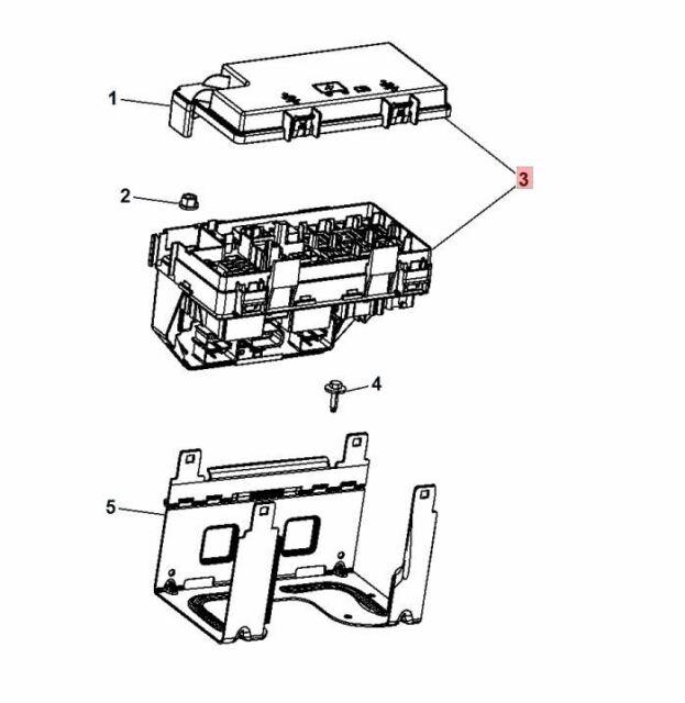 2013 Jeep Wrangler Fuse Box 68163903ad