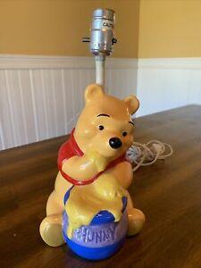 Vintage Classic Winnie The Pooh Honey Pot Ceramic Nursery Lamp