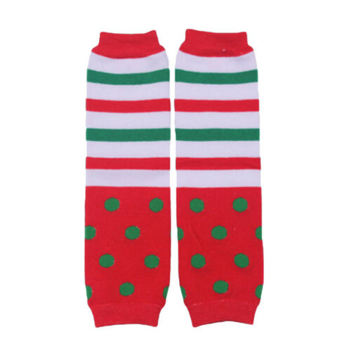 Baby Toddler Kids Christmas Arm Leg Warmers Santa Snowman Cotton Socks Tights