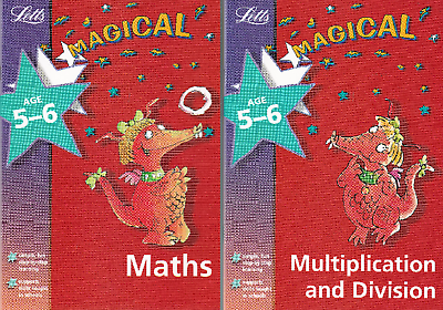 Maths Age 5-6: 2 Book Set Letts Magical Maths & Multiplication And Division Ks1