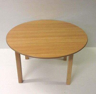 Kids beech wood preschool classroom school tution round CHILDREN table
