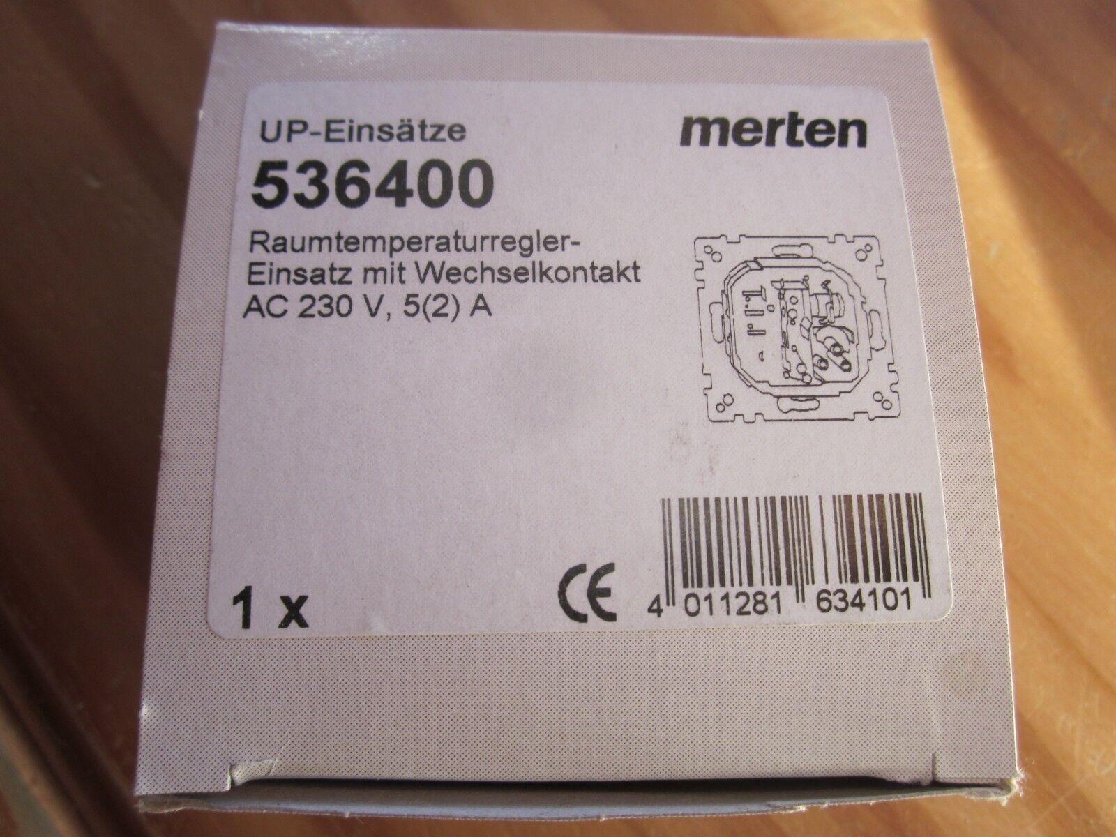 Merten Merten Merten Raumtemperaturregler -Einsatz mit Wechselkontakt OVP   536400 | Angemessene Lieferung und pünktliche Lieferung  4886dc