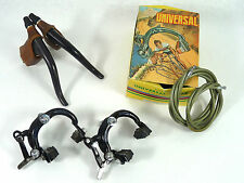 Universal Brake set  Super 68 Black complete Vintage Road Racing Bicycle NOS