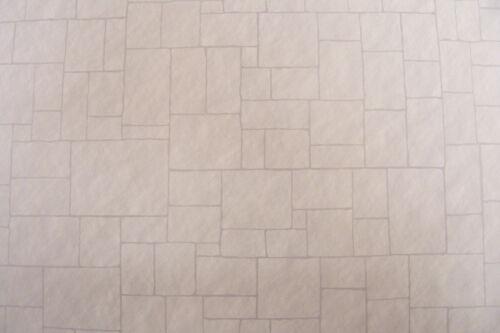29.7 cm x 43 cm 1:12 scale Minster Stone carte A3 tumdee Maison de Poupées Papier Peint