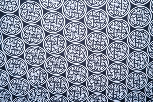Black White Geometric Print #836 Nylon Lycra Spandex 4 Way Stretch Swimwear BTY