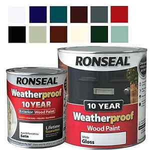 Image Is Loading Ronseal Weatherproof 10 Year Exterior Wood Paint Gloss