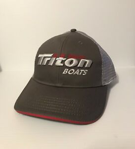 dd7005a25b5c8 Image is loading TRITON-BOATS-GRAPHITE-CAP-BASS-FISHING-HATS-HEADWEAR-