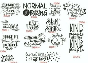 Inspirational Quotes Stickers Decals 14 Great Designs Wall Tiles New Home Ebay