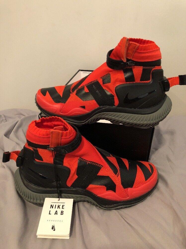 Men's Nike Nsw Gaiter Boot Orange/Tumbled Grey/Black Style: AA0530-800 Sz 6