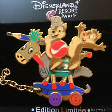 Paris Disney CHIP & DALE ON A TOY HORSE DLRP Train Series LE 900 Pin