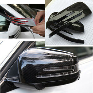 Aussenspiegelkappen-Kohlefaser-Muster-Kunststoff-Aufkleber-fuer-Benz-A-C-E-G-Class