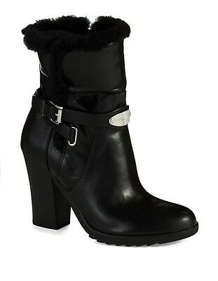 Michael Kors Lizzie Ankle Black Leather Boot Size 5 MSRP: $295.00