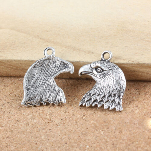 Lot Vintage Tibet Silver Clock Feather Owl Wings Pendant Charms Jewelry Findings