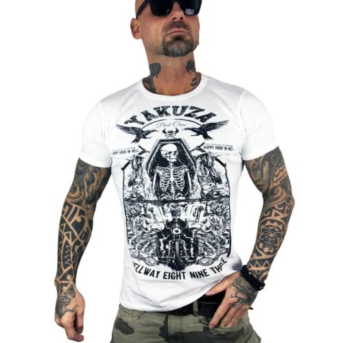 homme blanc shirt T Blanc Yakuza hellway 9002 Tsb EFwZpcfaq