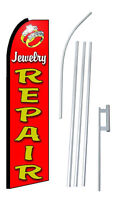Complete 15' Jewelry Repair Kit Swooper Feather Flutter Banner Sign Flag