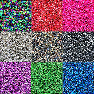 Aquarium Fish Tank Gravel Stones Substrate Coloured and Natural 2/10/20/40kgs