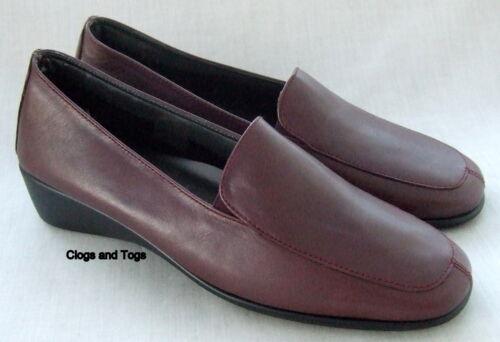 para de piel Clarks Zapatos Burdeos de mujer ancho corte Hazel U0EwxBC