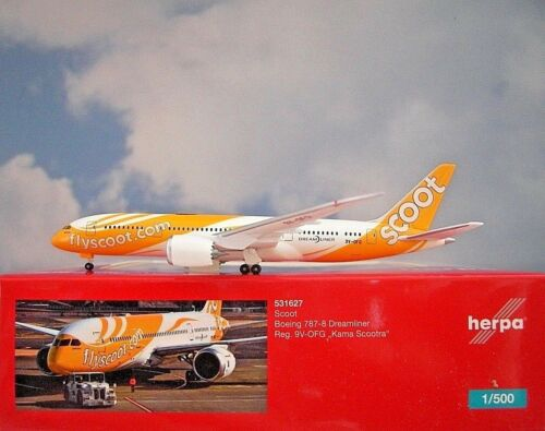 Herpa Wings 1:500 Boeing 787-8 SCOOT 9v-ofg 531627 modellairport 500