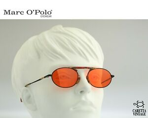Marc-O-039-Polo-by-Metzler-3316-787-Vintage-90s-orange-lenses-small-oval-sunglasses