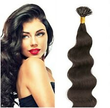 """Pre-Tip Cold Fusion I-Tip Body 18""""Euro Remy Hair Extensions 100 Strand Any Color"""