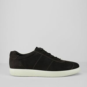 Black suede 'Soft 1' trainers