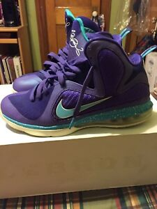 wholesale dealer 53a6f 44f9f Image is loading Men-039-s-Nike-LeBron-9-034-Summit-