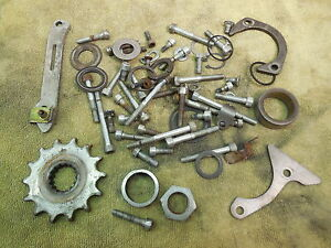 1994-KTM-300-MXC-Motor-engine-hardware-odd-parts-lot-case-bolts-etc-94-300MXC