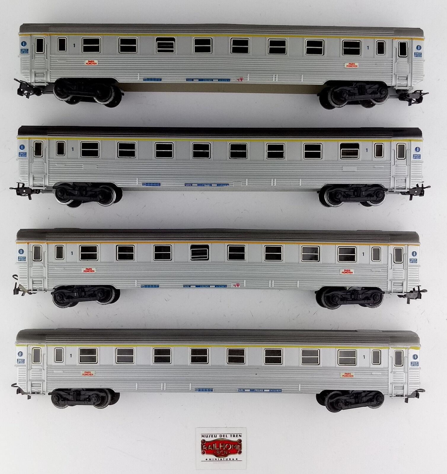 MARKLIN H0 4050 4076 - LOTE 4 VAGONES PASAJEROS 1ª CL. SNCF - COMO NUEVOS - OVP