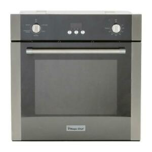 Magic Chef 24 in. 2.2 cu. ft. Single Electric Wall Oven with Convection in Stain