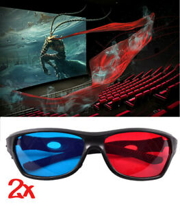 2x 3d Brille Fur Tv Kino Und Film Sportliches Design Rot Blau 3d Glasses Ebay