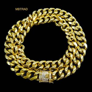 a41c15d0a3ec5 Details about 14K GOLD PLATED MIAMI CUBAN LINK CHAIN HEAVY NECKLACE 30 INCH  12mm THICK