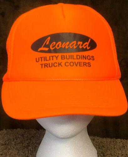 Leonard Double Snapback Hat VTG Foam Front Utility