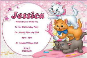 10 personalised cat kitten birthday party invitations thank you image is loading 10 personalised cat kitten birthday party invitations thank filmwisefo