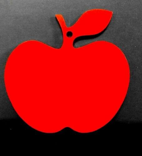 5 x Mdf Teachers Apples Pre-painted Red
