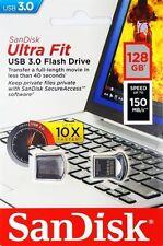 SanDisk 128GB SDCZ43-128G Cruzer Ultra Fit USB 3.0 Nano Flash Pen Drive 150MB/s