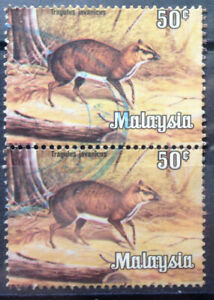 Malaysia Used Stamp - 2 pcs 1979 50 cents Animals Definitive Stamp - Mouse Deer