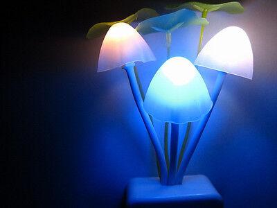 New Fantastic Mushroom Light Sense Control Led Night Wall Lamp US Adapter