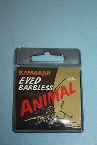 * FULL RANGE* 2 packs 2 x Kamasan Animal  Eyed Hook Barbless or Barbed