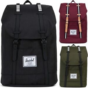 Herschel-Supply-Co-Retreat-Straps-Backpack-Rucksack-Bag-Black-Red-Geen