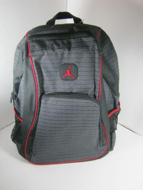 Nike Air Jordan Jumpman 23 Logo Backpack Laptop 9a1223 023 Black Red ... 61ad9e6568e7e