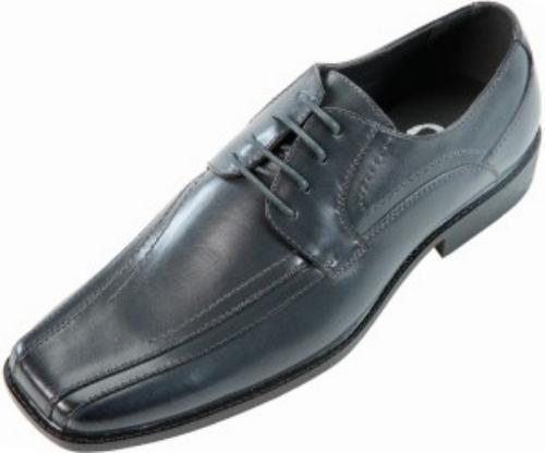 Sio Mens Classic Grey Smooth Wide Width Oxford Dress shoes  Style Mason-ww-011