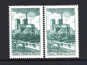 FRANCE-TIMBRE-776-034-CATHEDRALE-NOTRE-DAME-PARIS-VARIETE-COULEUR-034-NEUFS-xx-LUXE